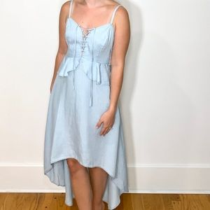Guess, Chambray, High-Low Dress